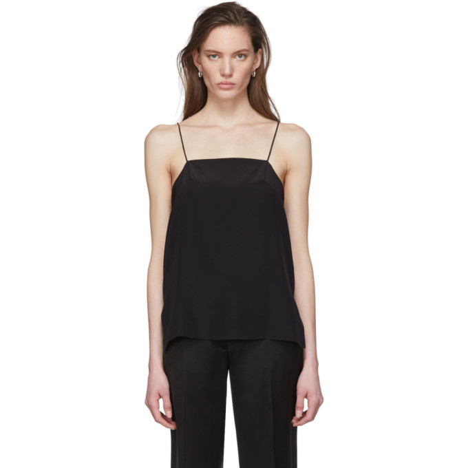 Julia Jentzsch Black Silk Tula Tank Top