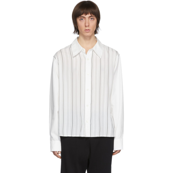 Our Legacy Chemise blanche Stripe Placket