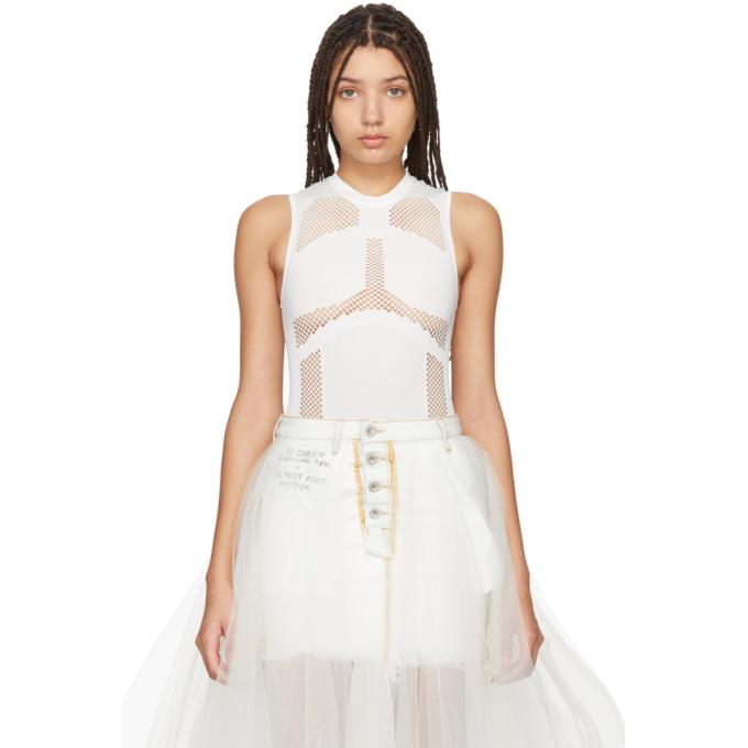 Unravel Body sans coutures blanc Mesh