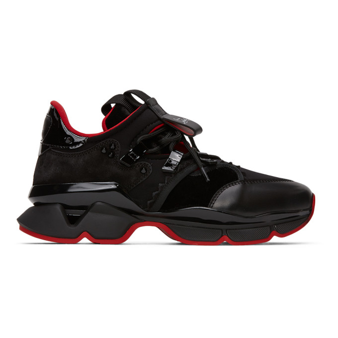 Christian Louboutin CHRISTIAN LOUBOUTIN BLACK AND RED RUNNER SNEAKERS