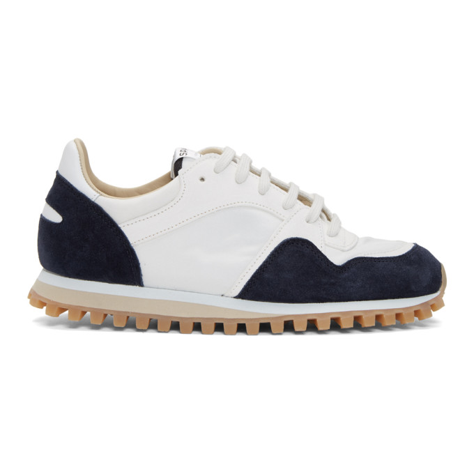 Spalwart SPALWART WHITE AND NAVY MARATHON TRIAL LOW WBHS SNEAKERS