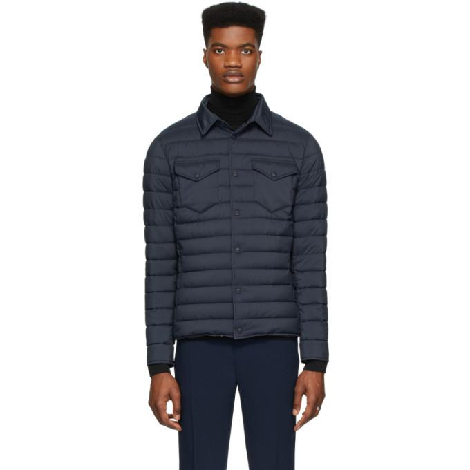 Herno Navy Nylon Matte Jacket