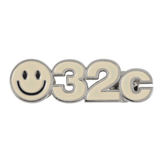 032c SSENSE Exclusive Off White Smiley Pin