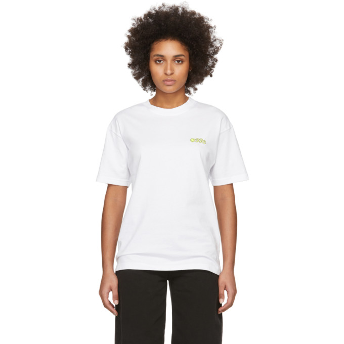 032c T-shirt blanc Smiley