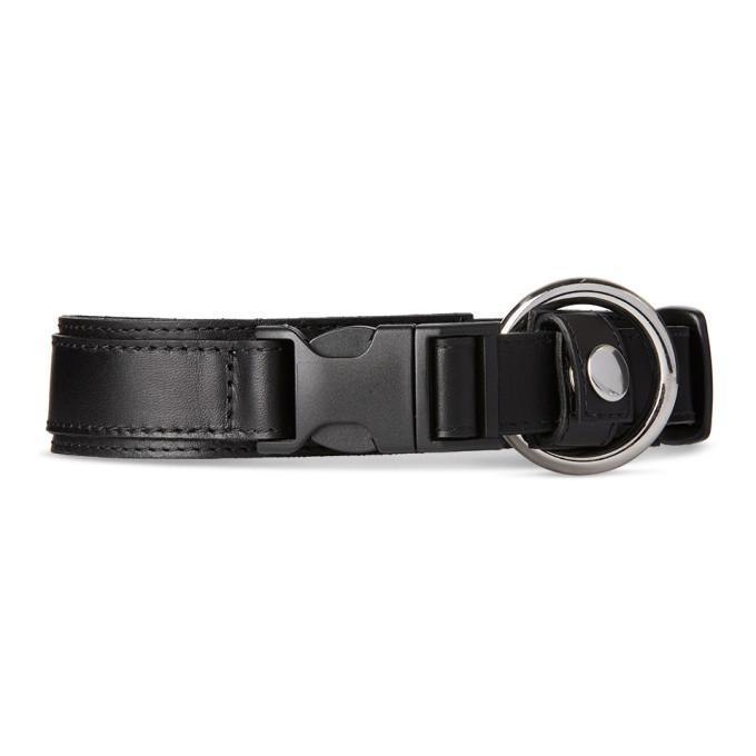 032c Black Leather Collar 201843M18403901