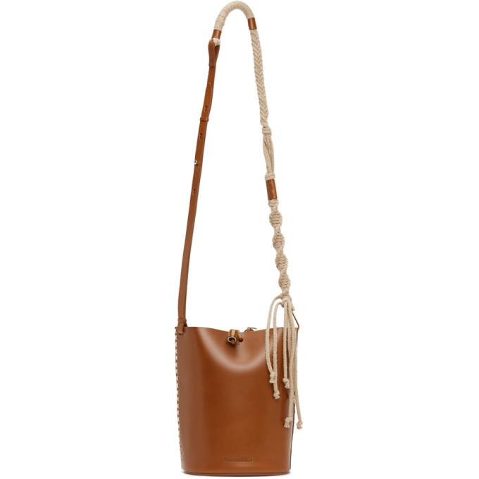 Nanushka Tan Mini Nia Bucket Bag