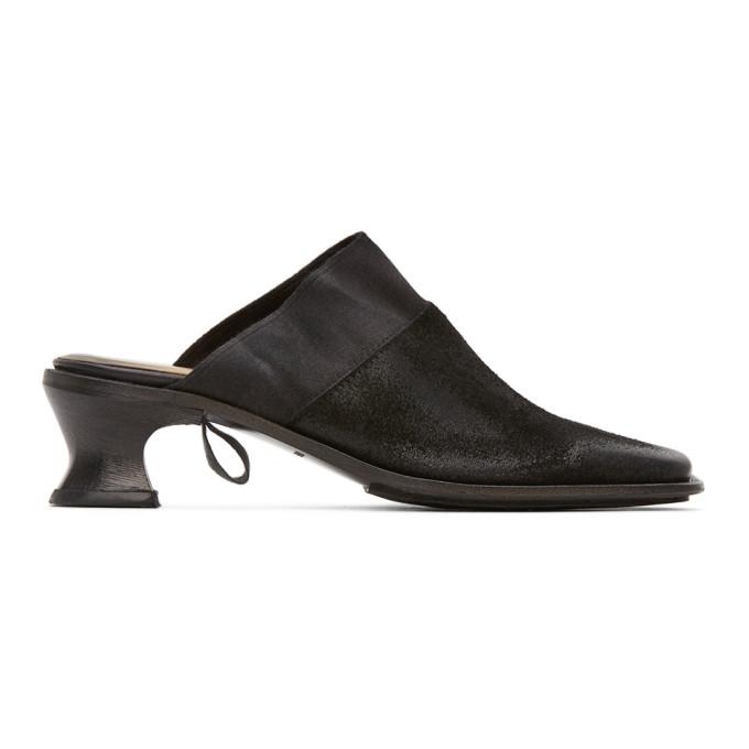 Buy Cherevichkiotvichki Black Ribbon Mules online