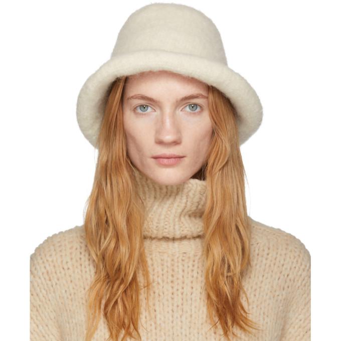 Lauren Manoogian Chapeau en feutre blanc casse Brim