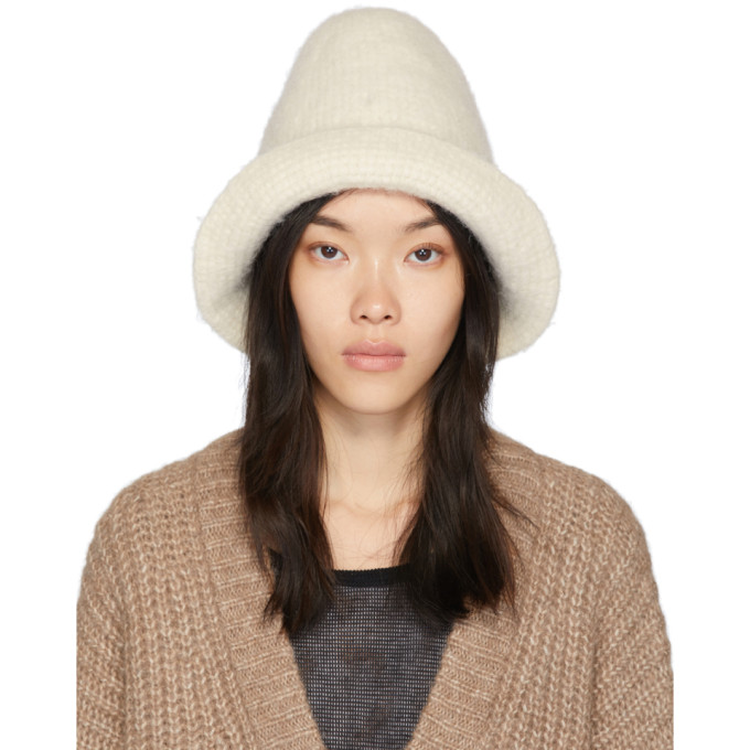 Lauren Manoogian Chapeau en feutre blanc Bell