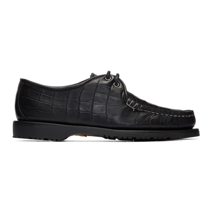 Noah NYC Chaussures oxford noires Captains edition Sperry