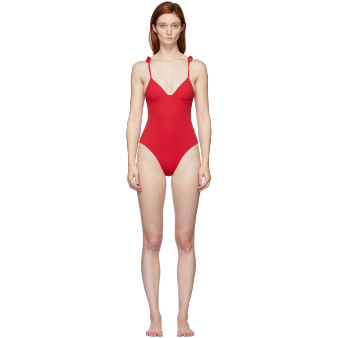 Solid and Striped Maillot de bain une piece reversible rouge The Olympia