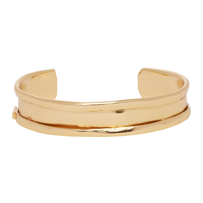 Emanuele Bicocchi Gold Open Cuff Bracelet  - buy with discount