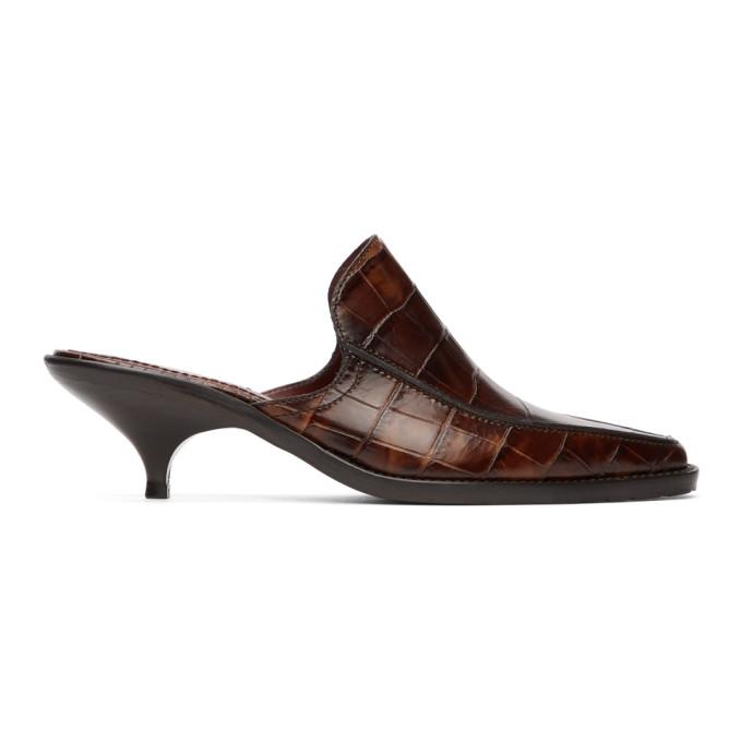 Buy Sies Marjan Brown Croc Kaya Mules online