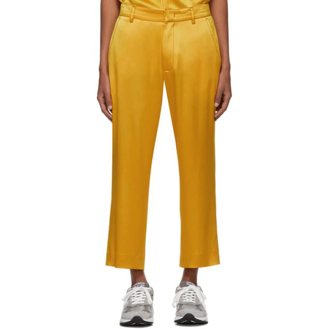 Sies Marjan Pantalon en satin jaune Alex