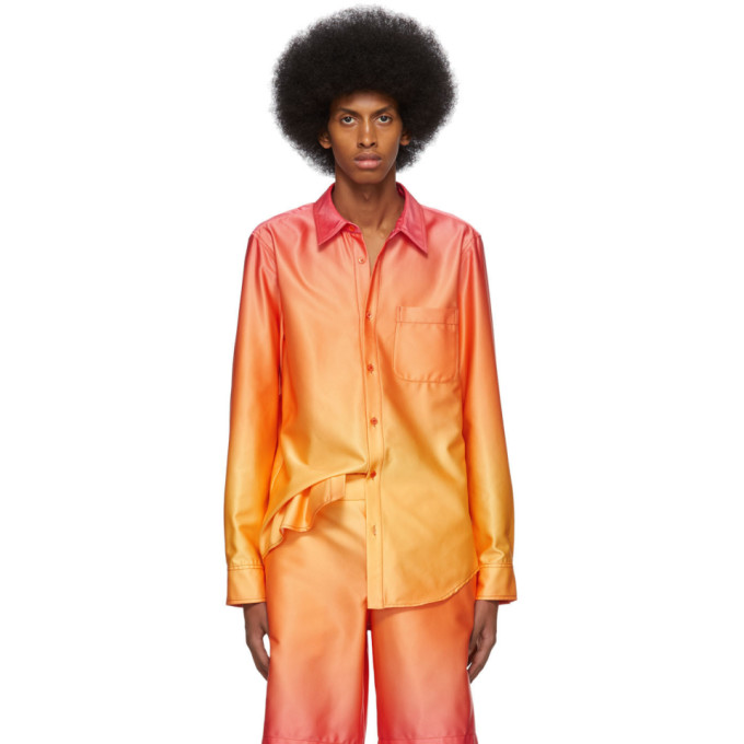 Sies Marjan Chemise degradee jaune et orange Sander