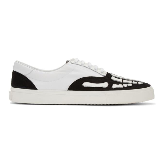 Amiri Baskets noires et blanches Skeleton Toe