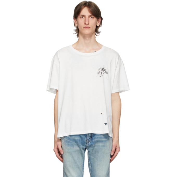 Enfants Riches Deprimes T-shirt a effet use blanc Nouvel Echec