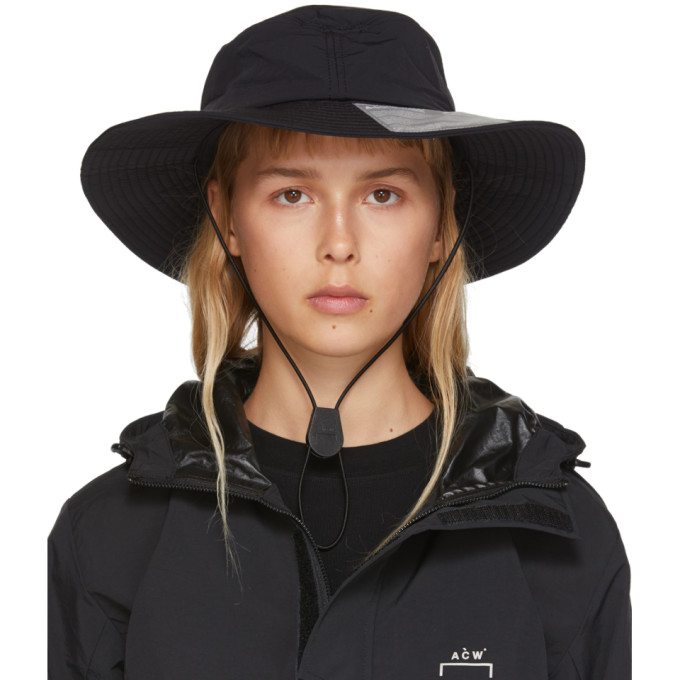 A-Cold-Wall* A-COLD-WALL* BLACK SNAP FLAP BUCKET HAT