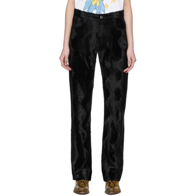 Martine Rose Pantalon noir Faux Pony Augustus