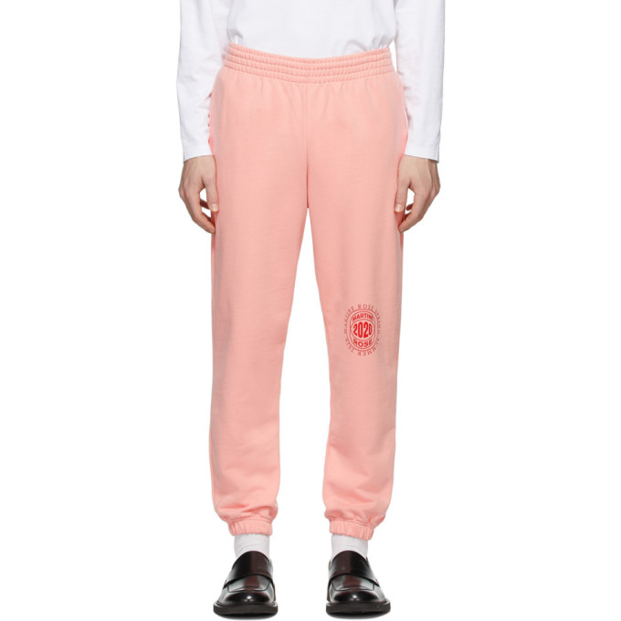 Martine Rose Pantalon de survetement ajuste rose