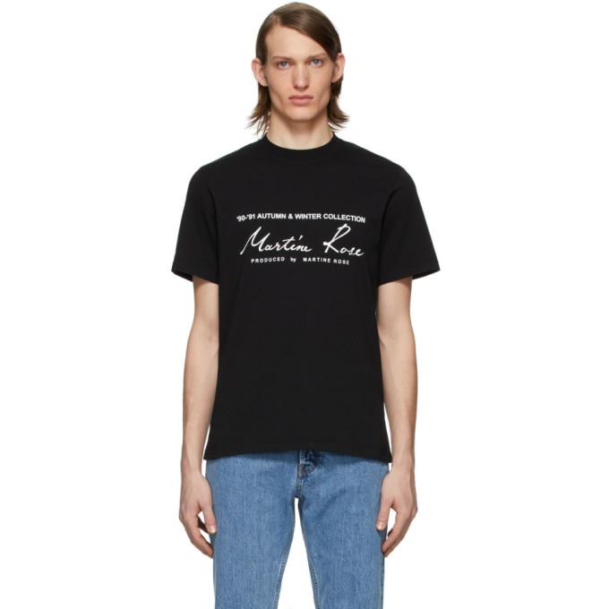 Martine Rose T-shirt noir Classic