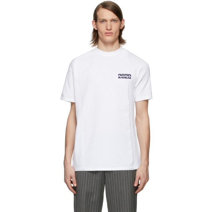 Martine Rose T-shirt blanc Side Rib