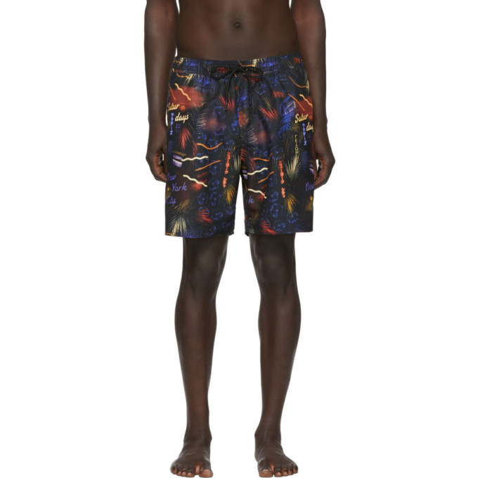 Saturdays NYC Maillot de bain noir Timothy