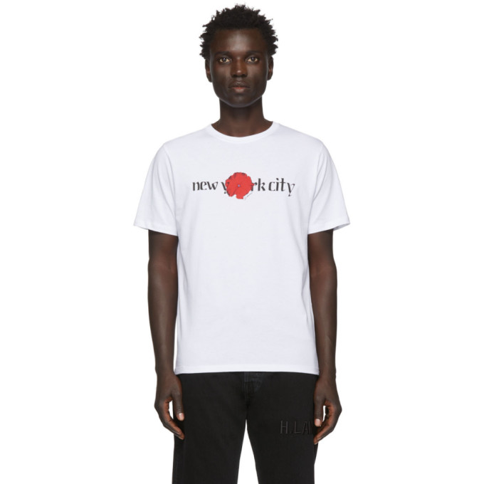 Saturdays NYC T-shirt blanc NYC Moonflower