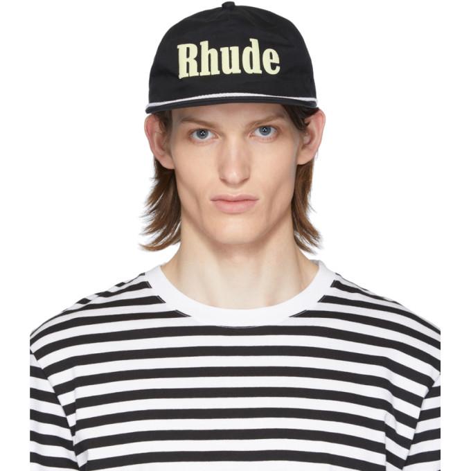 Rhude Casquette a logo noire et blanche