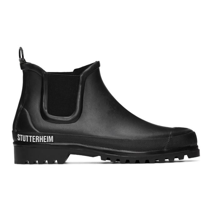 Stutterheim Bottes chelsea noires Rainwalker