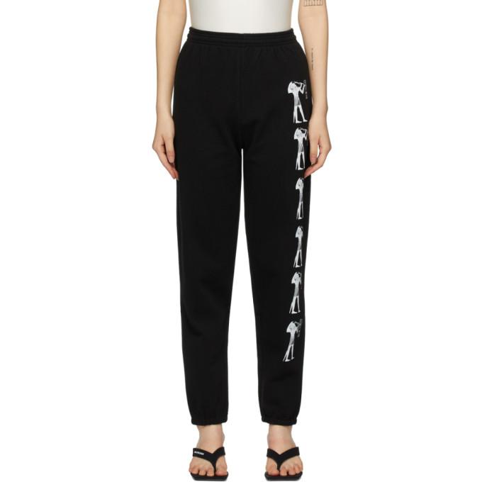 Ashley Williams Pantalon de survetement noir Eat Me