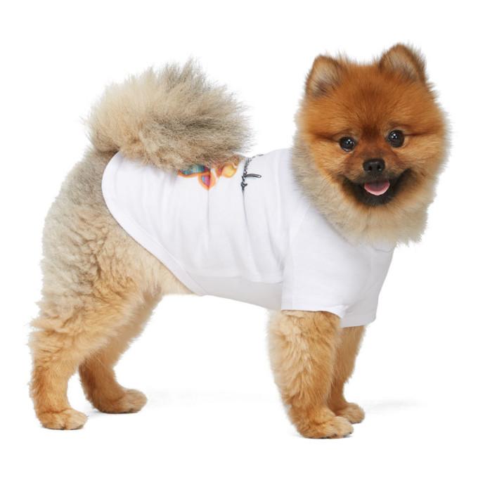 Ashley Williams T-shirt pour chien blanc Best Friends exclusif a SSENSE
