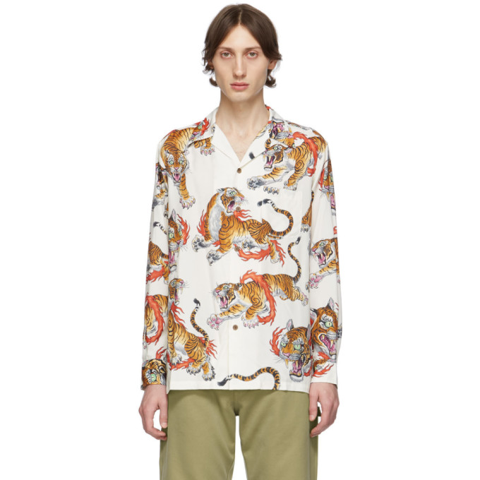 Wacko Maria Chemise hawaienne blanche et multicolore edition Tim Lehi