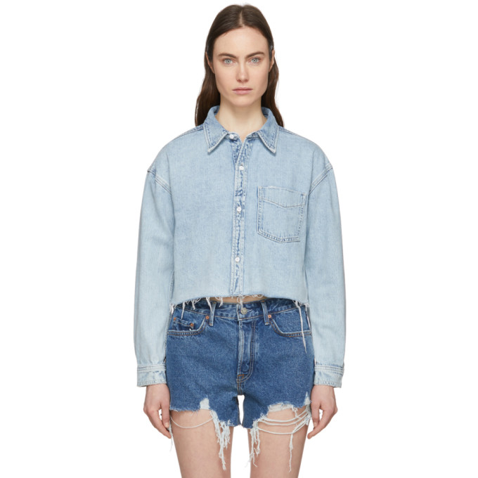 Grlfrnd Denims GRLFRND BLUE DENIM CHRISTY JACKET