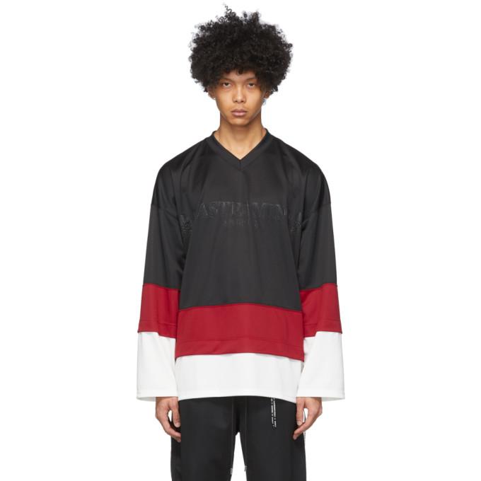 mastermind WORLD T-shirt a col en V etage noir Boxy