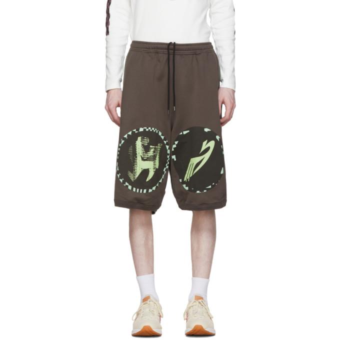 Kiko Kostadinov Short brun et vert Louisville Wide