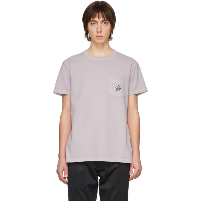 Schnaydermans T-shirt tisse-teint en jersey mauve You Are Here