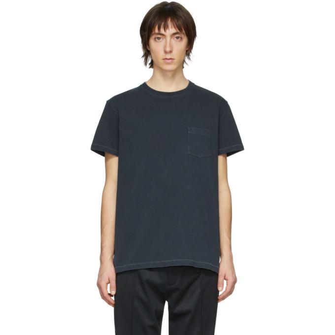 Schnaydermans T-shirt en jersey teint en plongee noir