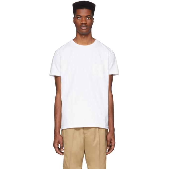 Schnaydermans T-shirt en jersey blanc