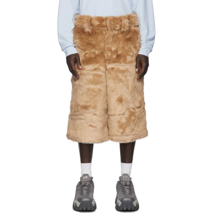 Landlord Short en fourrure synthetique brun