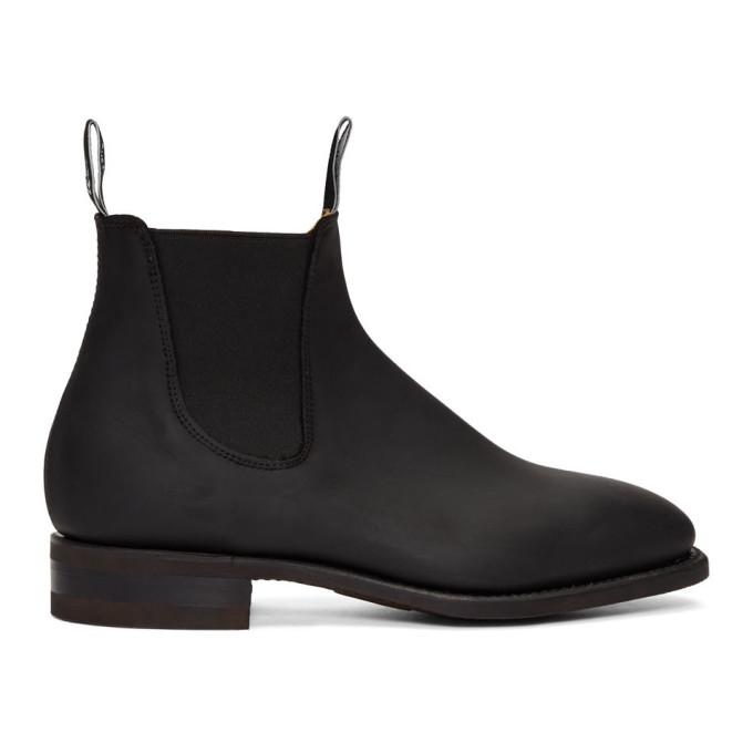 R.M. Williams Black Oily Fern Comfort Craftsman Chelsea Boots