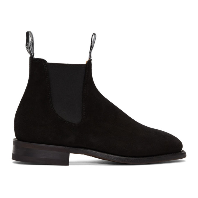 R.M. Williams Bottes chelsea en suede noires Confort Craftsman