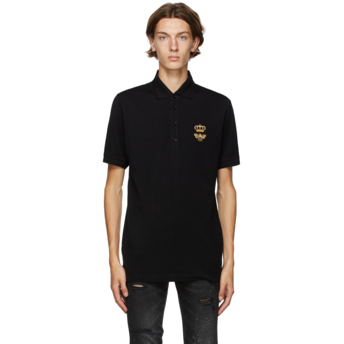 DOLCE & GABBANA DOLCE AND GABBANA BLACK DNA POLO