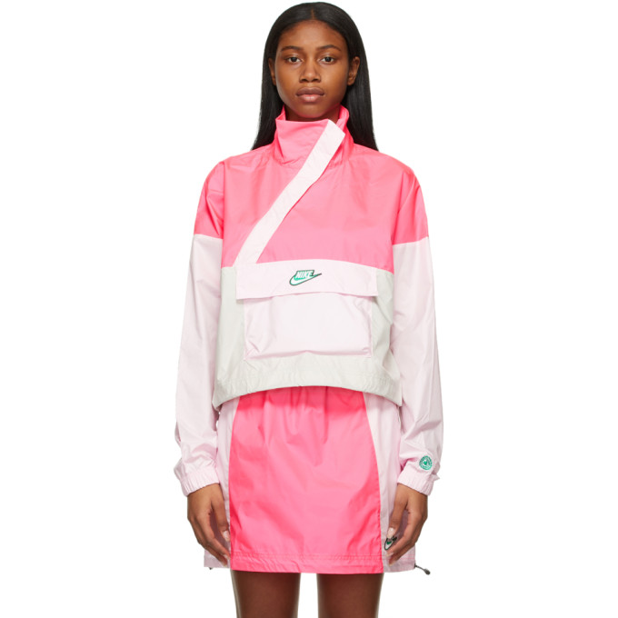 Nike Nike Pink and Beige NSW Icon Clash Jacket