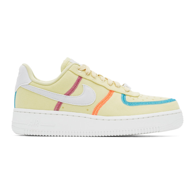 Nike Suedes NIKE GREEN AIR FORCE 1 07 LX SNEAKERS