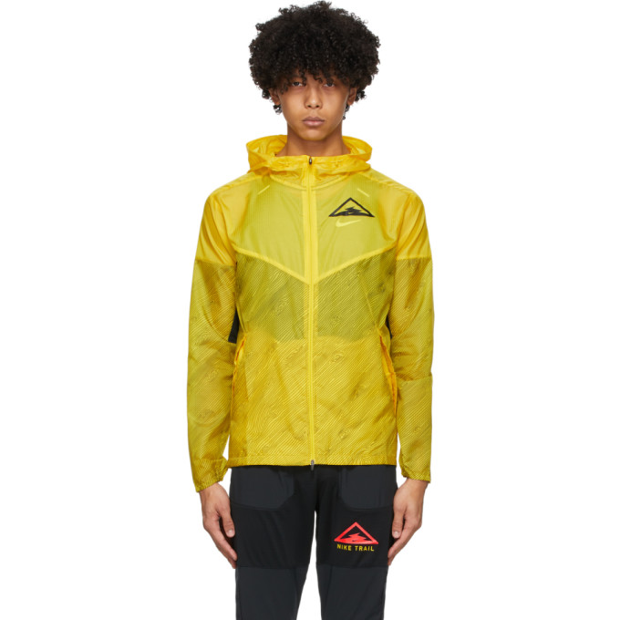 Nike Nike Yellow and Black Trail Windrunner Jacket