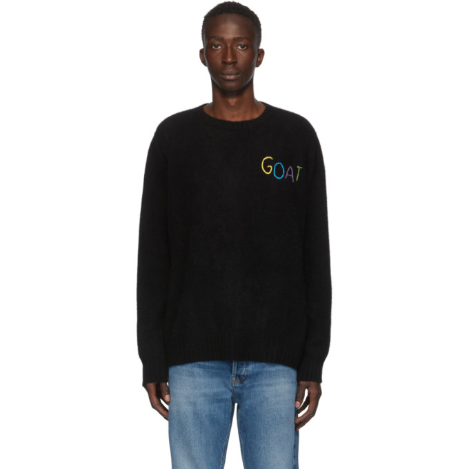 SSENSE Exclusive Black Goat Racing Crewneck Sweater