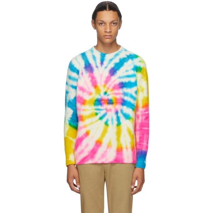 The Elder Statesman Pull en cachemire a motif tie-dye multicolore exclusif a SSENSE