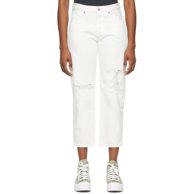 Citizens Of Humanity CITIZENS OF HUMANITY WHITE EMERY CROP JEANS