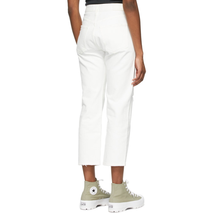 CITIZENS OF HUMANITY Denims CITIZENS OF HUMANITY WHITE EMERY CROP JEANS